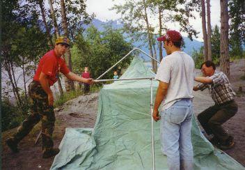 Tent teamwork